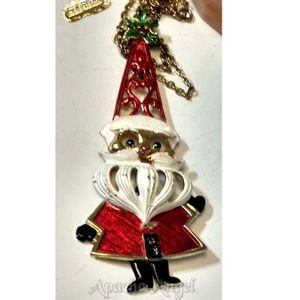 Vintage 50's Betrix Articulated Santa Necklace